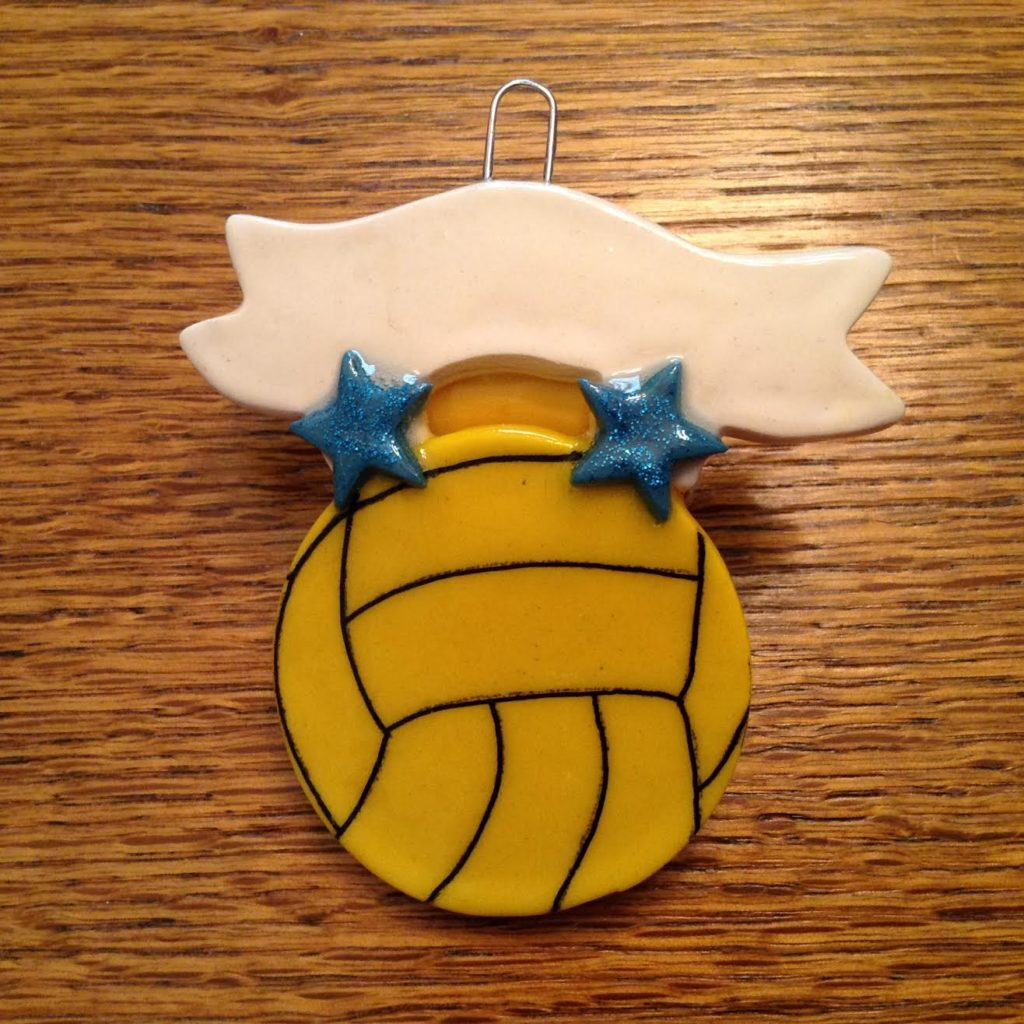 water polo christmas ornament