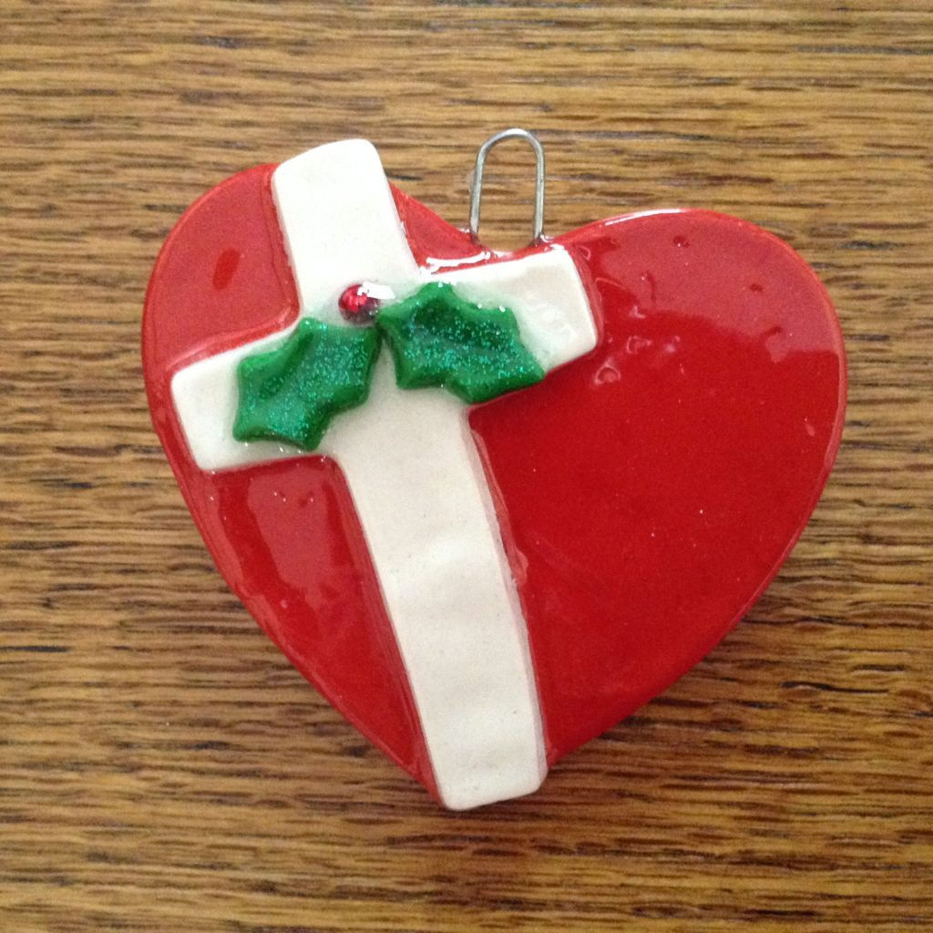 Red Heart With White Cross