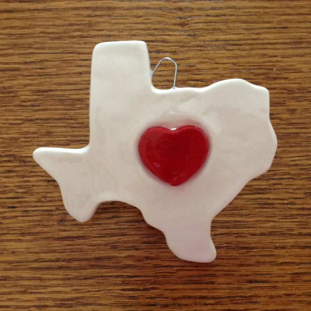Texas With Red Heart